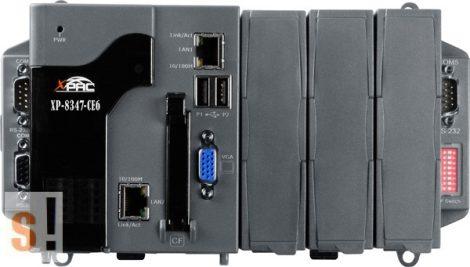 XP-8347-CE6 # XP-8000 ISaGRAF PAC Controller/AMD-LX800/Windows CE6 OS/3x férőhely, ICP DAS