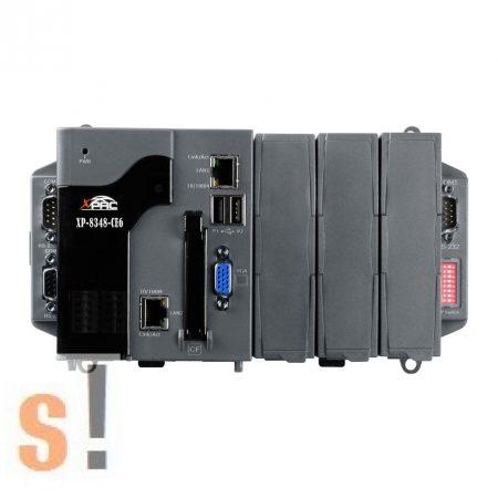 XP-8348-CE6 # XP-8000 Win-GRAF PAC Controller/AMD-LX800/Windows CE6 OS/3x férőhely, ICP DAS