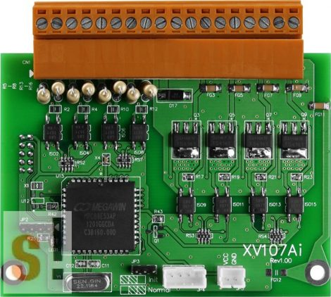 XV107A # I/O bővítő kártya/VPD/8x DI sink/8x DO source/szigetelt, ICP DAS