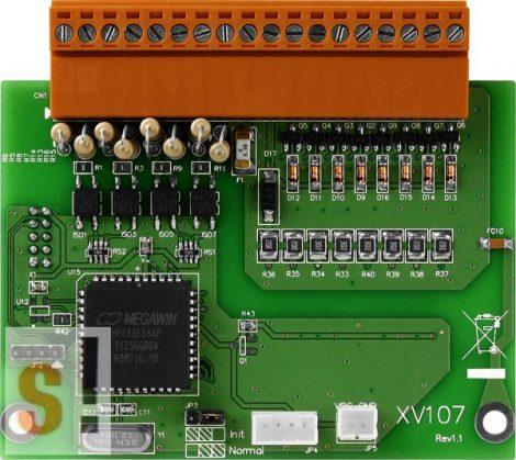 XV107 # I/O bővítő kártya/VPD/8x DI source/8x DO sink/szigetelt, ICP DAS