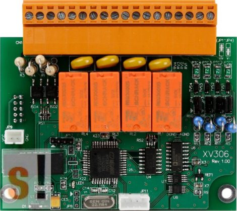 XV306 CR # I/O bővítő kártya/VPD/4x AI/4x DI/4x relé ki RO, ICP DAS