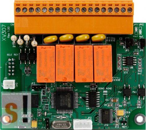 XV307 CR # I/O bővítő kártya/VPD/2x AO/4x DI/4x relé ki RO, ICP DAS