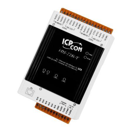 iDS-728i-T  # intelligens soros-ethernet szerver, 2x szigetelt RS-232/422/485 port, ICP DAS