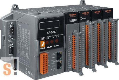 iP-8441 # Controller/MiniOs7/C nyelv/4 hely/microSD/768KB/2x Ethernet port, ICP DAS