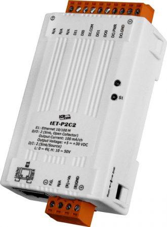 tET-P2C2 # Ethernet I/O Module/tiny/Modbus TCP/2DI/2DO/NPN, ICP DAS
