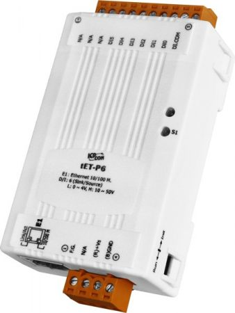tET-P6 # Ethernet I/O Module/tiny/Modbus TCP/6 DI, ICP DAS