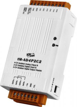 tM-AD4P2C2 # I/O Module/Modbus RTU/4 AI/2 DO/2DI, ICP DAS, ICP CON