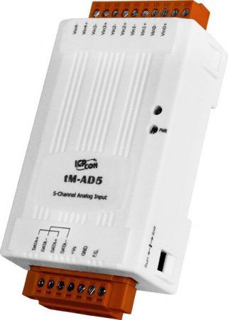 tM-AD5 CR I/O Module/Modbus RTU/tiny/5 AI/DIFF, ICP DAS, ICP CON