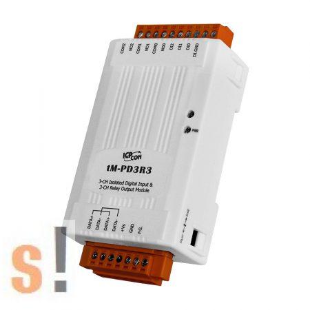 tM-PD3R3 # I/O Module/Modbus RTU/tiny/3x Relé/3x DI/dry kontaktus/RS-485, ICP CON, ICP DAS