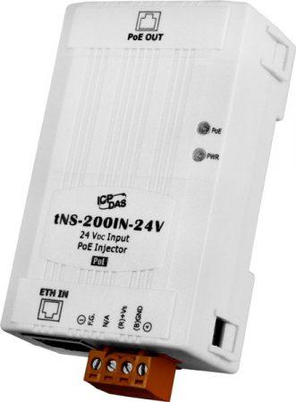 tNS-200IN-24V # Ipari PoE injector, tápfeladó, 24VDC, ICP DAS