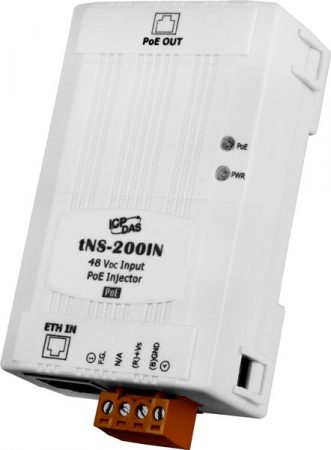 tNS-200IN # Ipari PoE injector, tápfeladó, ICP DAS