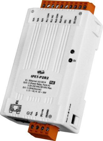 tPET-P2R2 # PoE Ethernet I/O Module/tiny/Modbus TCP/2DI/2DO/Relay, ICP DAS
