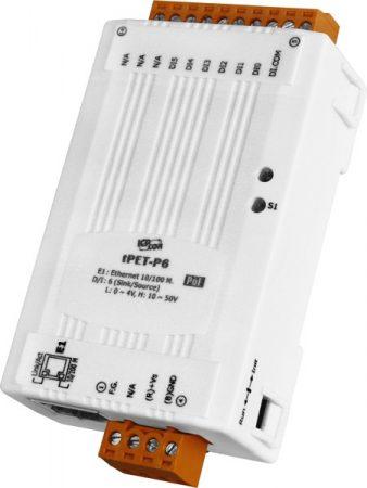 tPET-P6 # PoE Ethernet I/O Module/tiny/Modbus TCP/6 DI, ICP DAS