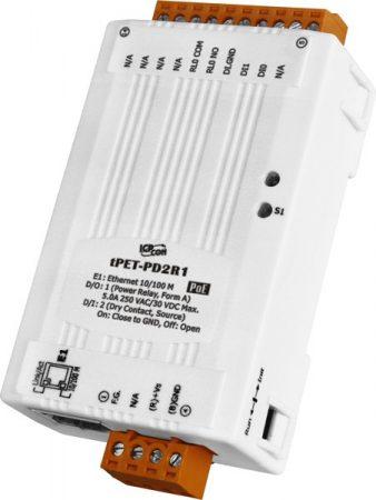 tPET-PD2R1 # PoE Ethernet I/O Module/tiny/Modbus TCP/2DI/1RelayOut, ICP DAS
