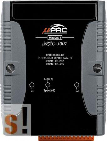 μPAC-5007D # uPAC-5007D/POE Kontroller/768KB/1x Ethernet/1x RS-232/1x RS-485/LED/ISAGRAF, ICP DAS, ICP CON