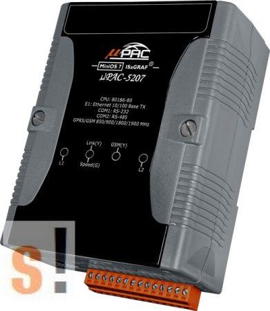 μPAC-5207 # uPAC-5207/POE Kontroller/768KB/1x Ethernet/1x RS-232/1x RS-485/ISAGRAF/GPRS, ICP DAS, ICP CON