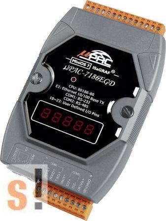 μPAC-7186EG # uPAC-7186EGD/Kontroller/MiniOS7/ISaGRAF, ICP DAS, ICP CON
