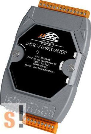 μPAC-7186EX-MTCP CR # Controller/Konverter/Gateway/MiniOS7/C nyelv/Modbus TCP/Ethernet/RS-232/RS-485/512KB, ICP DAS