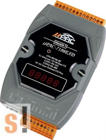 µPAC-7186EXD-G # Controller/MiniOS7/C nyelv/Ethernet/RS-232/RS-485/512KB/LED, ICP DAS