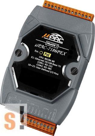 μPAC-7186PEX # Controller/MiniOS7/C nyelv/PoE Ethernet/RS-232/RS-485/512KB, ICP DAS